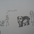 honden foto Walking my panda
